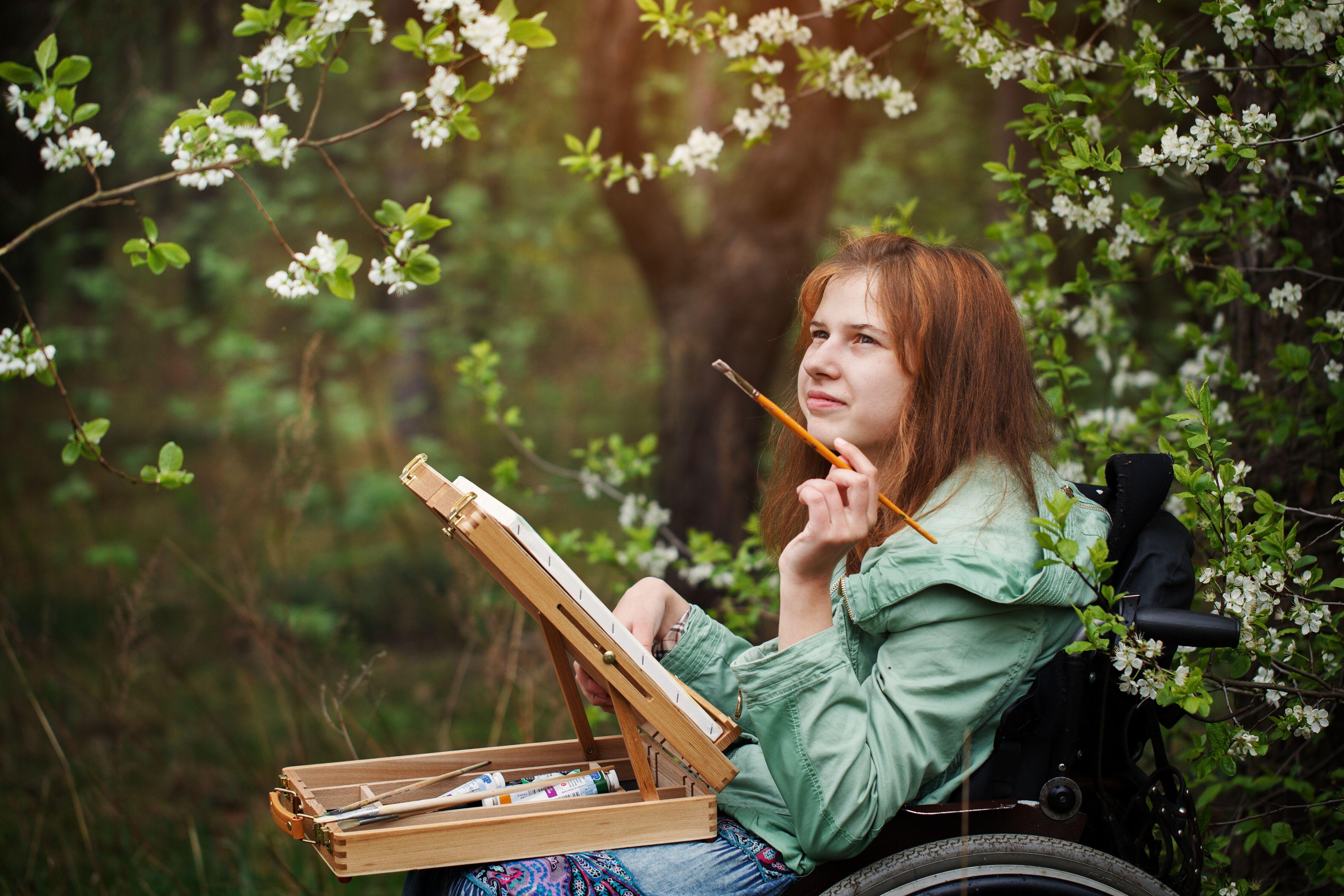 Stroke survivor painting